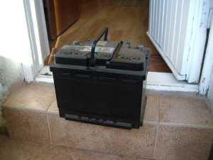 Заряд аккумулятора фарами