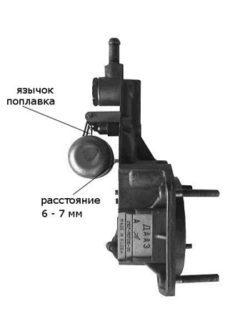 Уровень топлива в карбюраторе ДААЗ 2107
